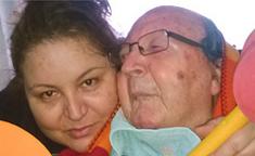 Loli y su padre, afrontando un reto llamado Parkinson-Lewy